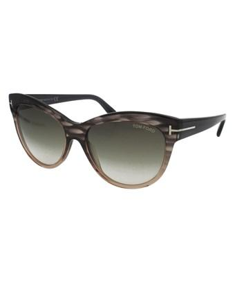 a21b14f8b61 Tom Ford Lily Women Sunglasses In Frame  Green Lens  Brown