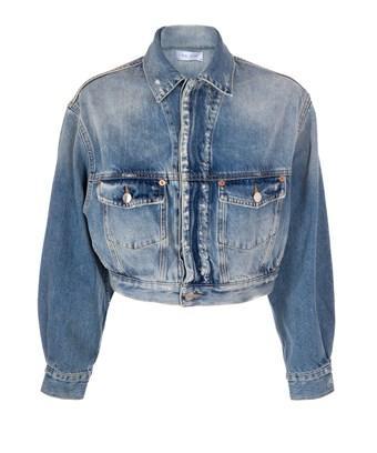 Iro Women's  Blue Cotton Jacket