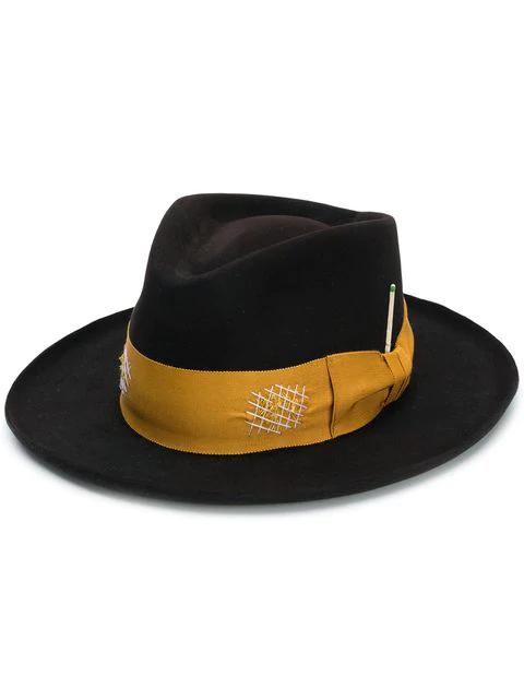 Nick Fouquet Mid-Brim Marigold Ribbon Trimmed Hat - Farfetch In Brown