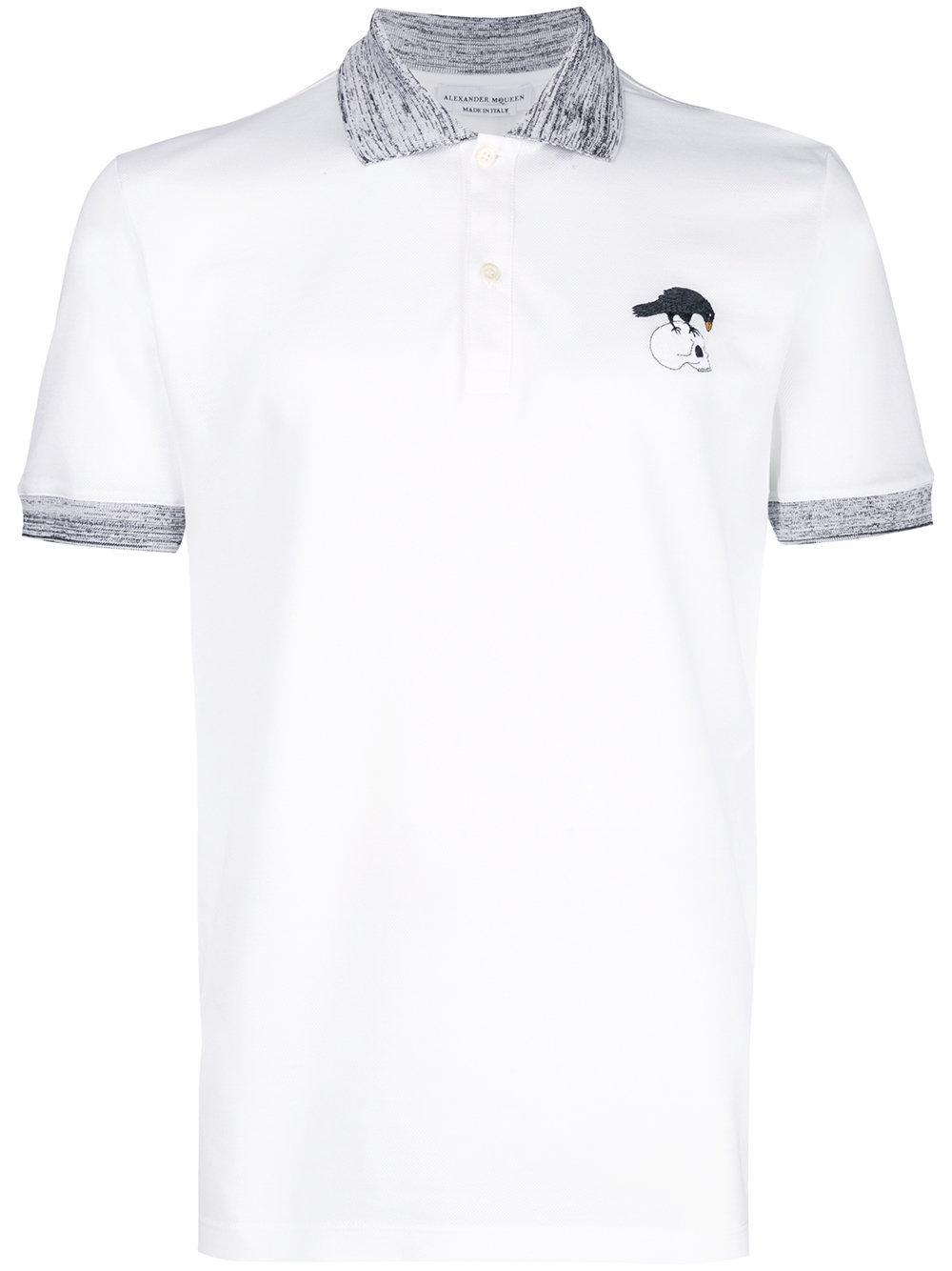 fa93ee418 Alexander Mcqueen Logo Polo衫 In White   ModeSens