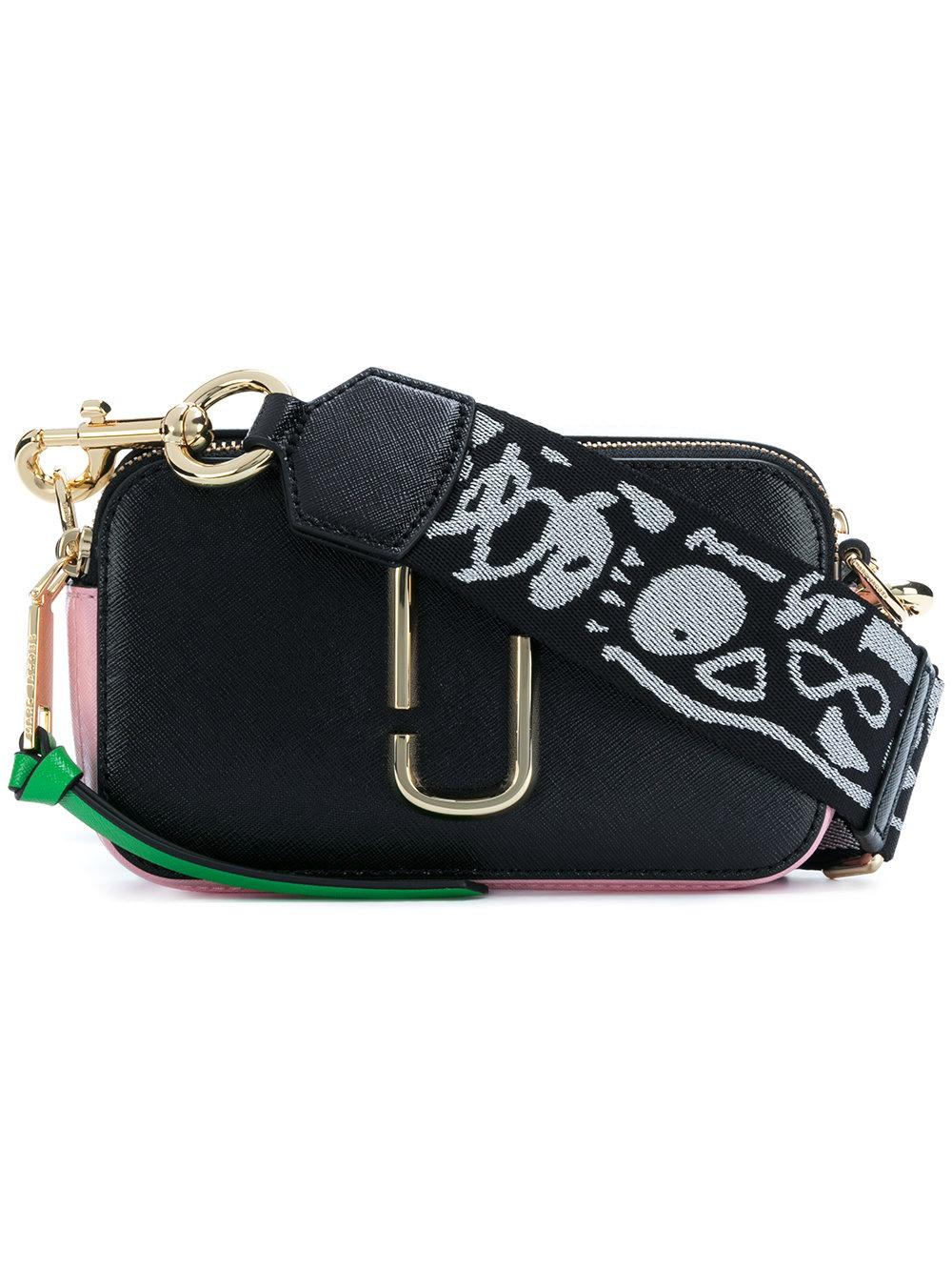 f96e2b302b9a32 Marc Jacobs Snapshot Colour-Block Leather Shoulder Bag In Black ...