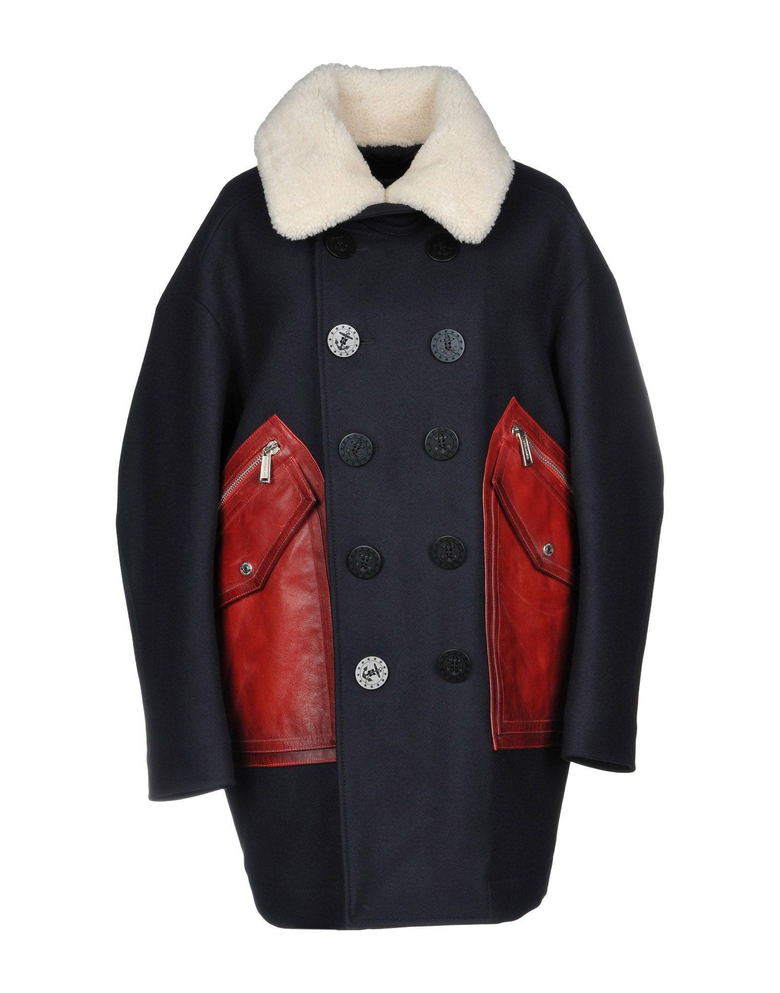 Dsquared2 Coats In Dark Blue