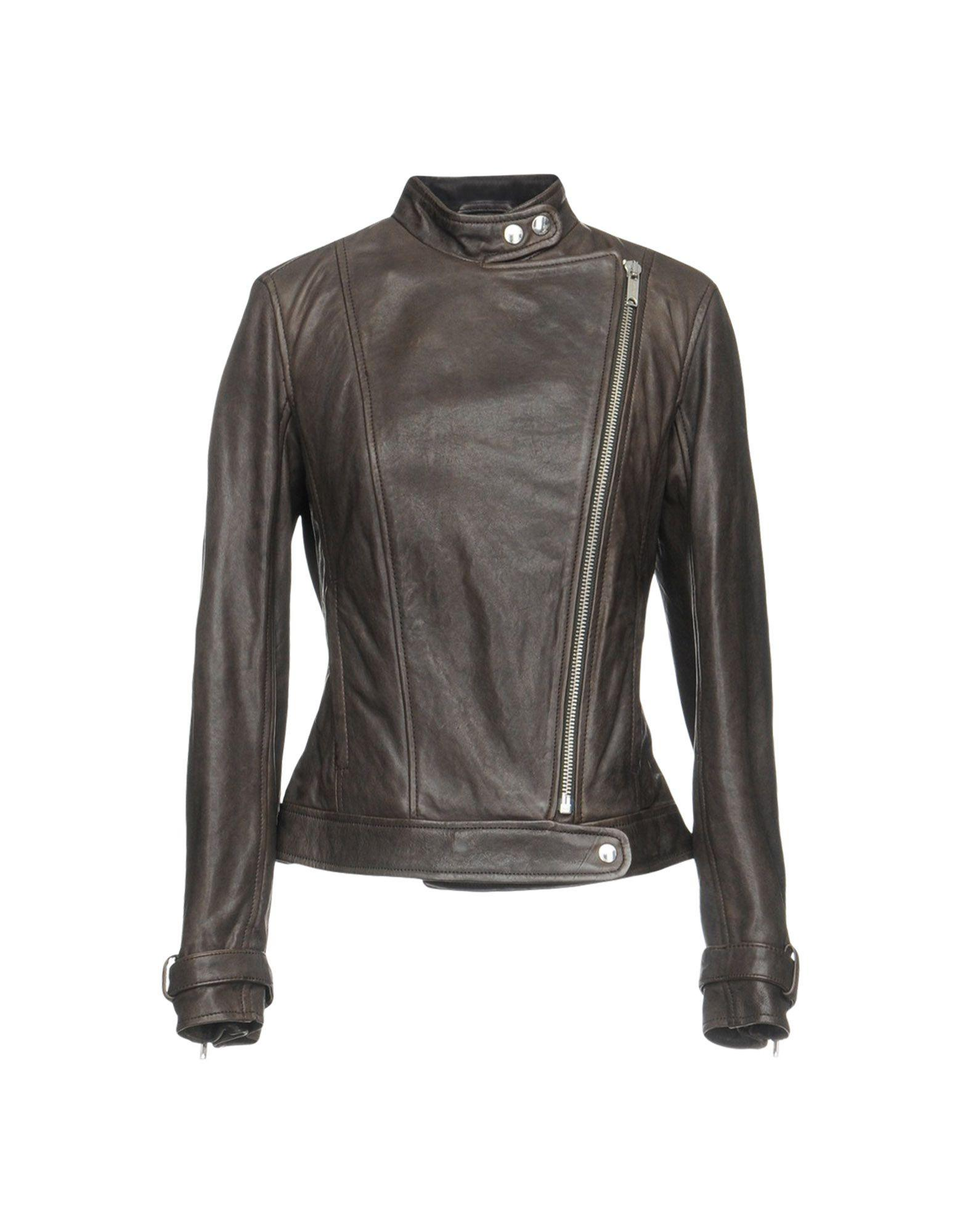 Dondup Biker Jacket In Lead