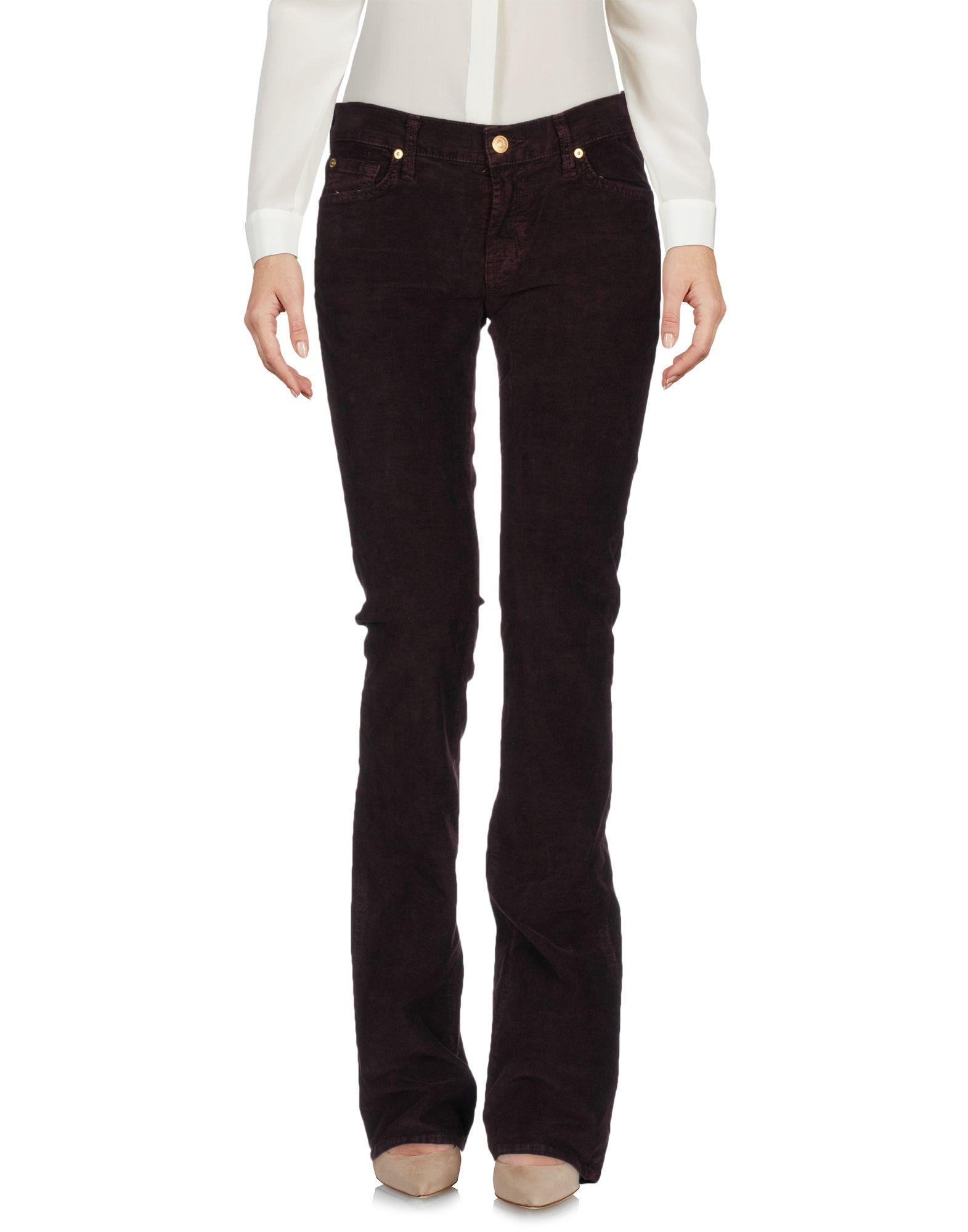 7 For All Mankind Casual Pants In Deep Purple
