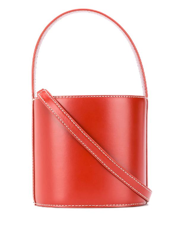 Staud Bissett Bucket Bag In Cognac