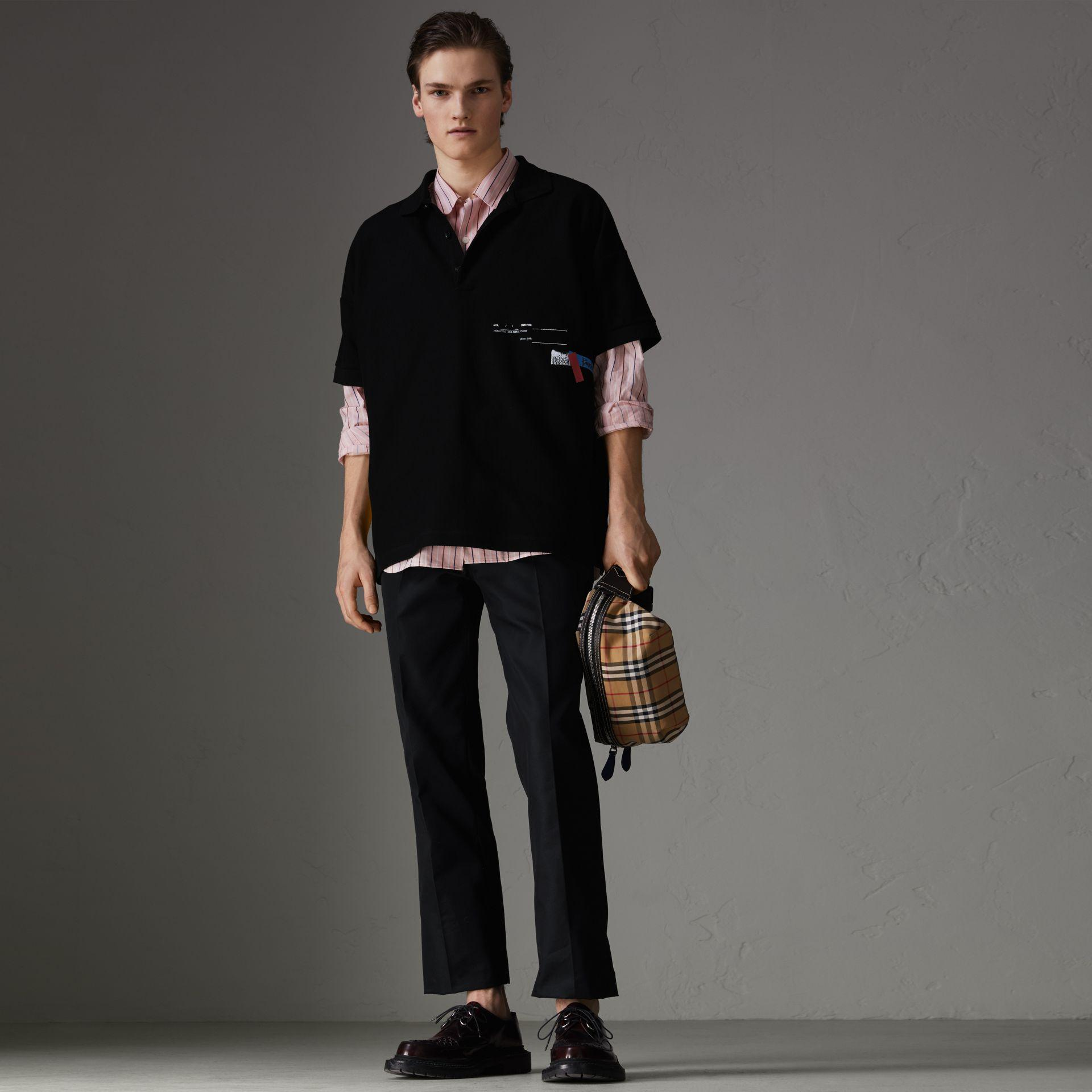 7f95f98c Burberry Sport Stripe Oversized Polo Shirt In Black | ModeSens