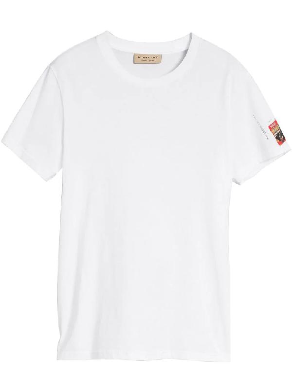 0a0fd9468 Burberry Graffitied Ticket Print T-Shirt In White | ModeSens