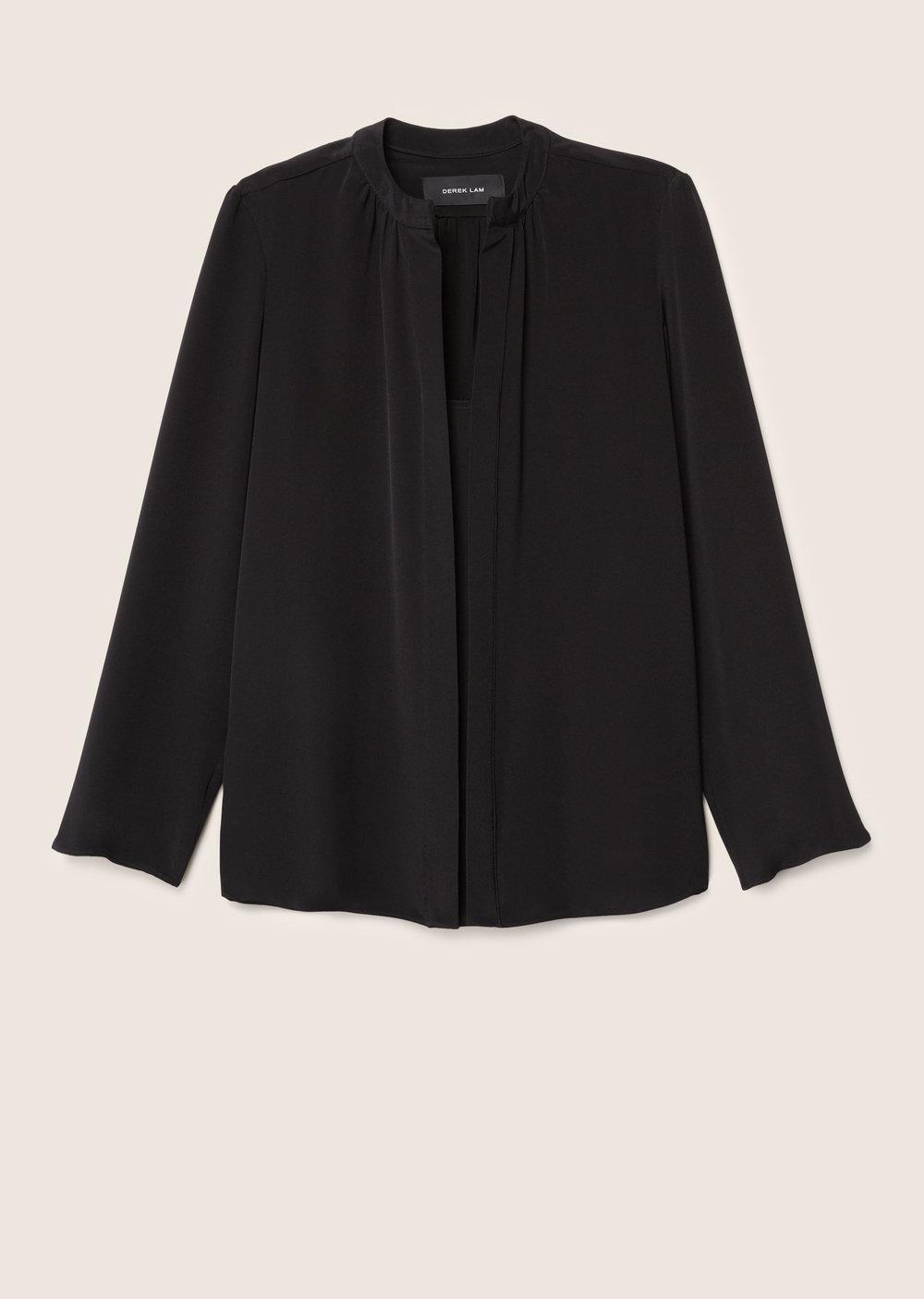 Derek Lam Kara Long Sleeve Blouse In Black