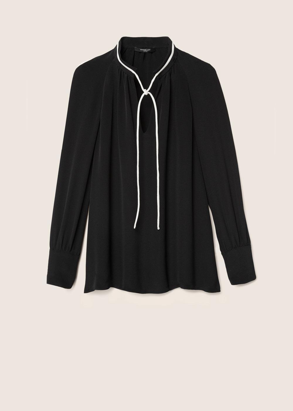 Derek Lam Sonia Long Sleeve Blouse In Black