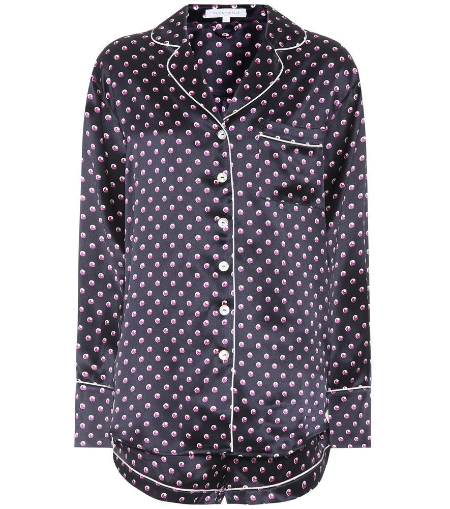 Olivia Von Halle Alba Don Satin Silk Pyjama Set