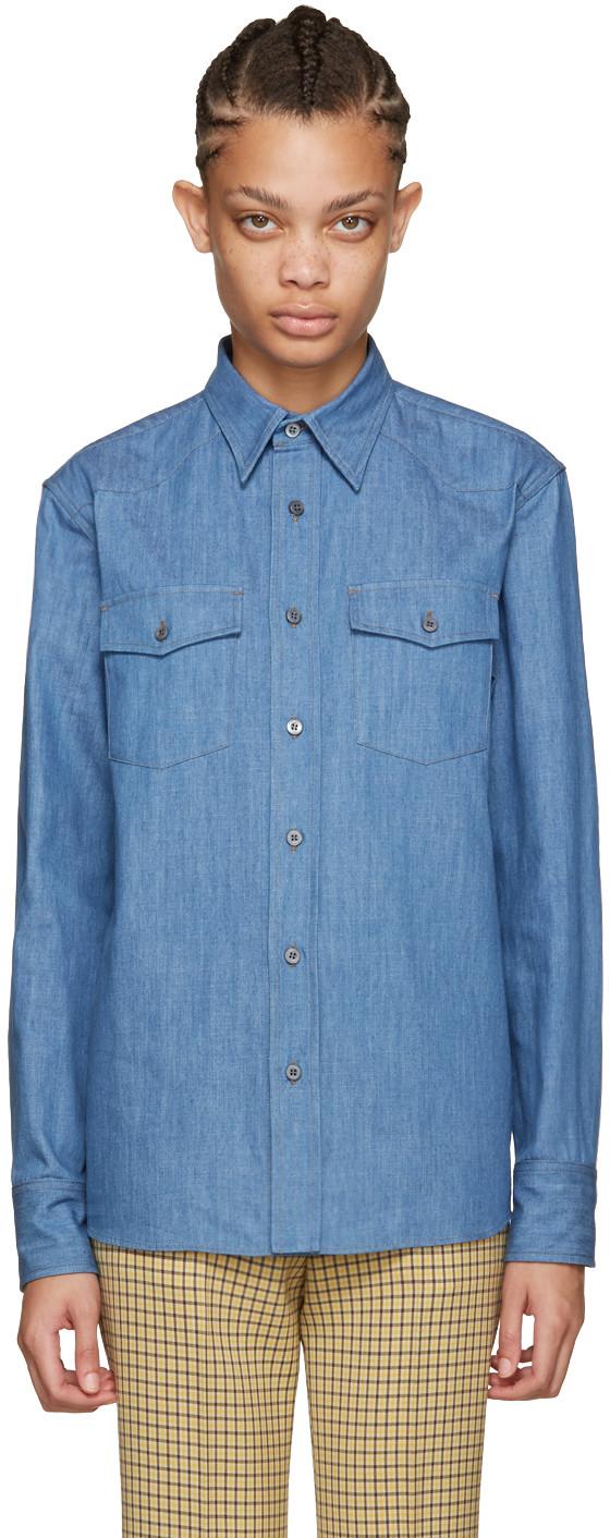 Miu Miu Blue Denim Shirt