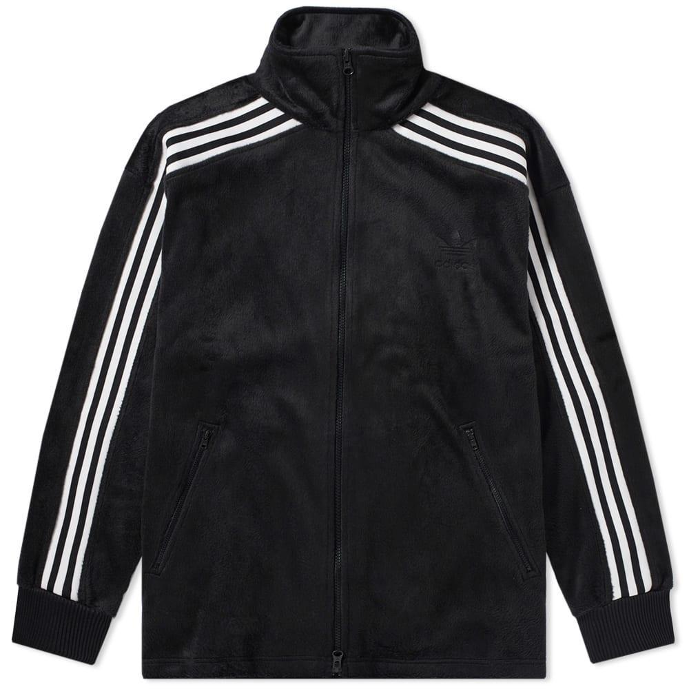 cd0d7805aee2f7 Adidas Originals Adidas Velour Bb Track Top In Black