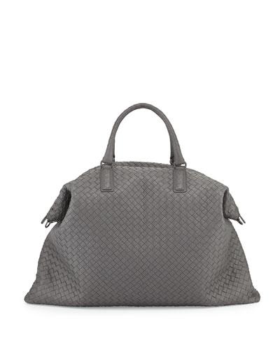 Bottega Veneta Men's Veneta Maxi Convertible Tote Bag In Gray