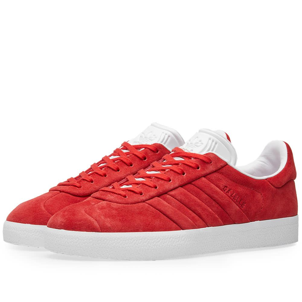 991e981a8eca Adidas Originals Adidas Gazelle Stitch   Turn In Red
