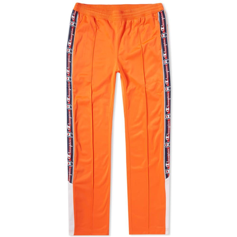 Champion Reverse Weave Popper Taped Track Pant In Orange