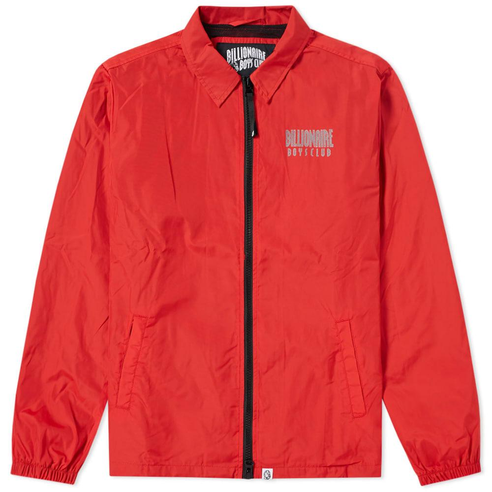 7d9666671 BILLIONAIRE BOYS CLUB. Billionaire Boys Club Zip Coach Jacket in Red