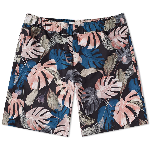 e8c8578426d51 Saturdays Surf Nyc Trent Mid-Length Printed Swim Shorts - Black In Monstera