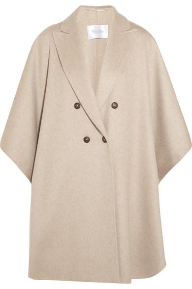 Max Mara Woman Basilio Draped Cashmere Coat Beige