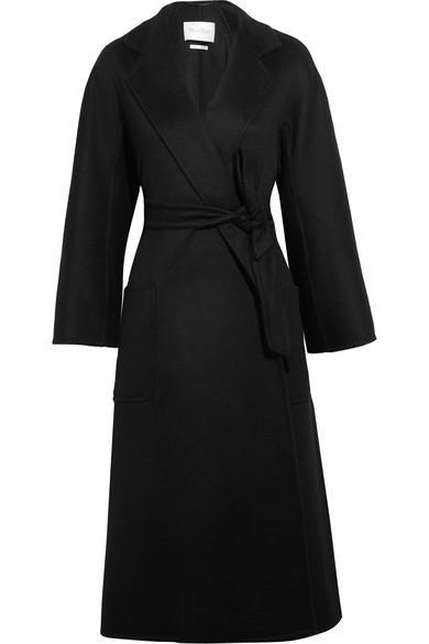 Max Mara Labro Oversized Cashmere Coat In Black