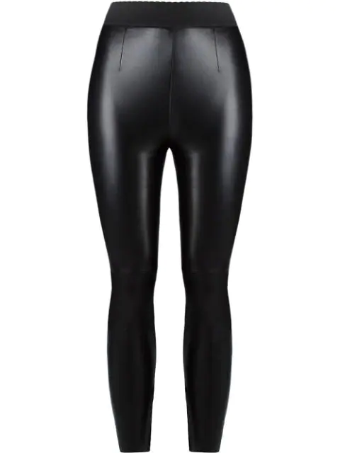 Dolce & Gabbana Leather Leggings In Black