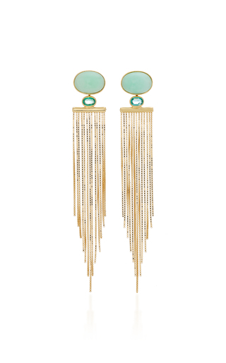 Carla Amorim Crysoprase Bailarina Earrings In Gold