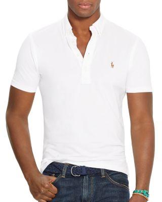 Polo Ralph Lauren Hampton Knit Oxford Regular Fit Shirt In White