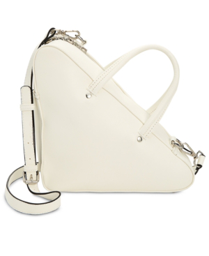 Steve Madden Macey Small Triangle Bag In White/Silver