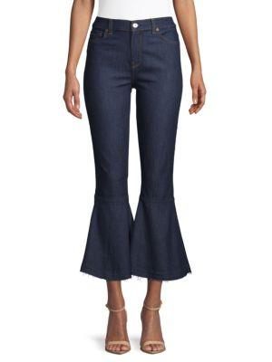 7 For All Mankind Priscilla Flared Jeans In Blue