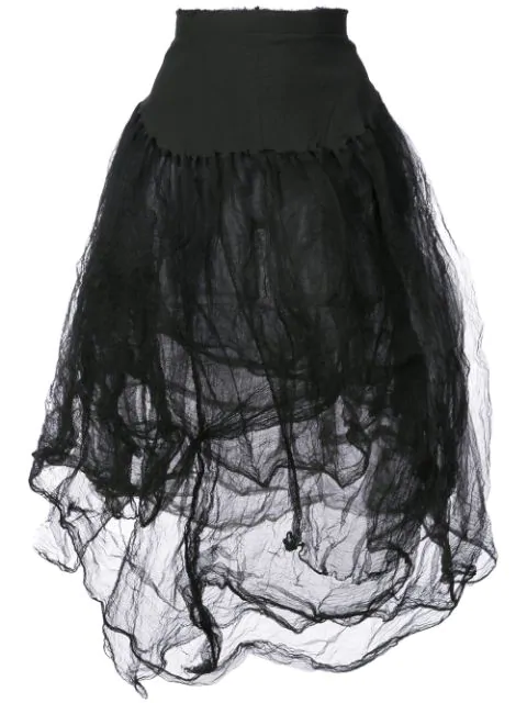 Marc Le Bihan High-Waisted Tulle Skirt In Black