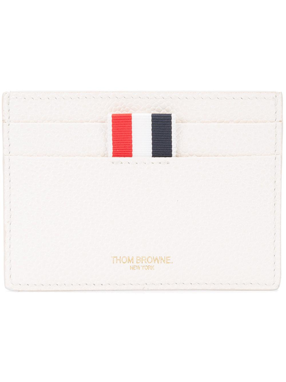 72ff801f5d Thom Browne Credit Card Holder In White Pebble Grain | ModeSens