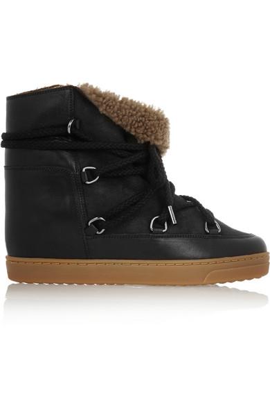 Isabel Marant Nowles Black Snow Boots
