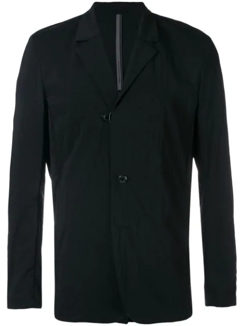Attachment Single-breasted Blazer In Black