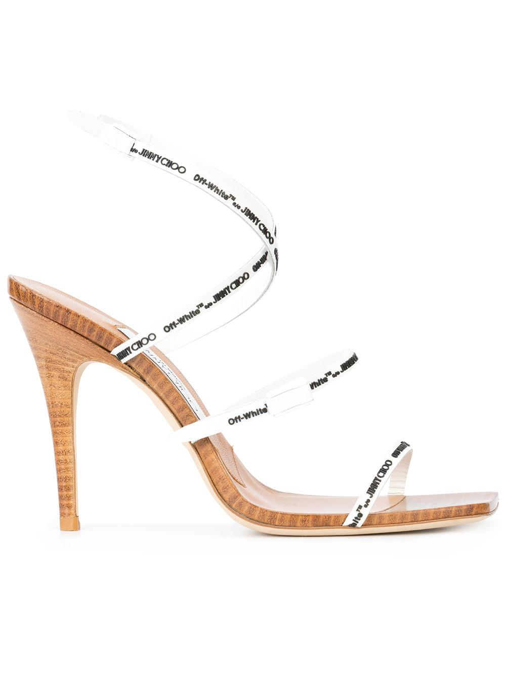 66ca77a3f0 Off-White X Jimmy Choo Jane 100 Sandals | ModeSens