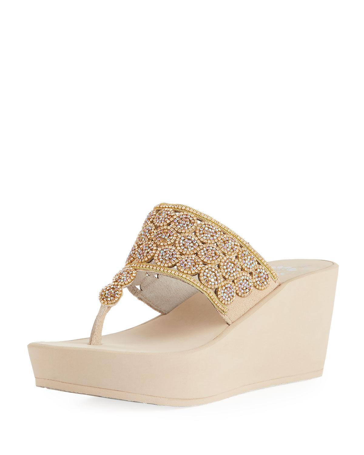 522946850 Premium Collection By Yellow Box Oudry Suede Embellished Sandals ...