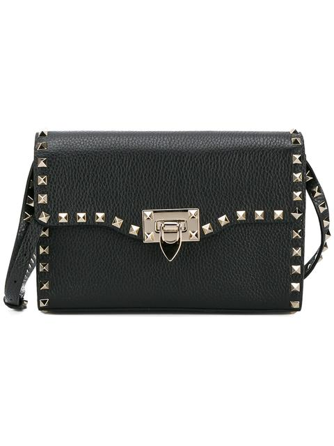 Valentino Garavani Rockstud Crossbody Bag In Black