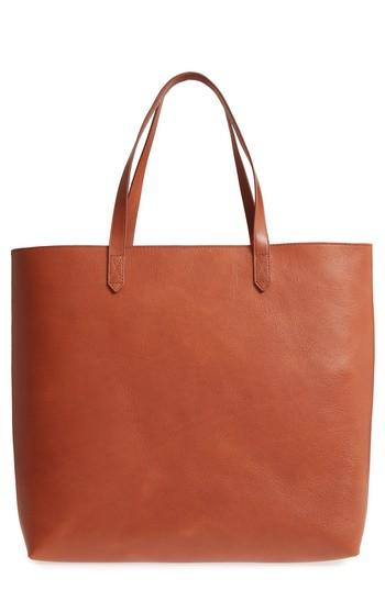 4fcb09c87 Madewell Zip Top Transport Leather Tote - Brown In English Saddle ...