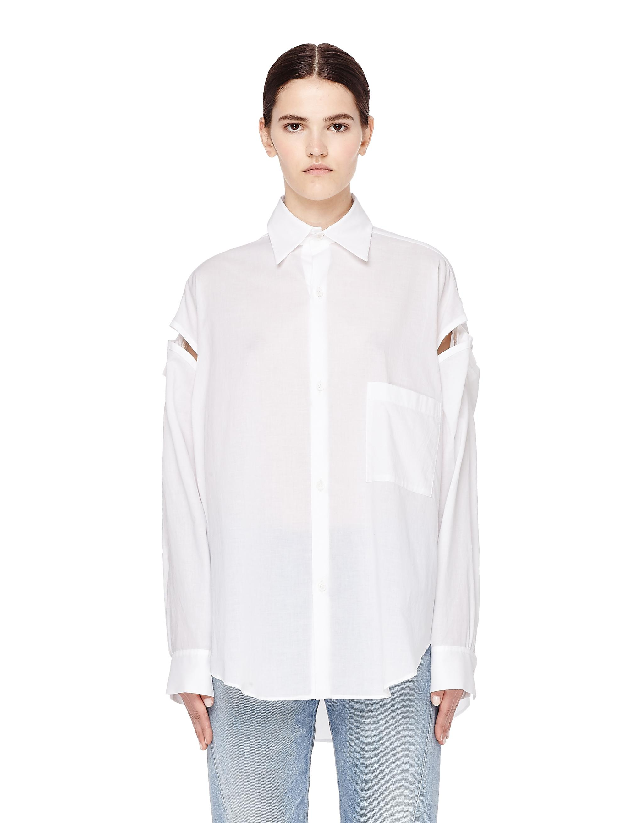 Y's White Cotton Shirt