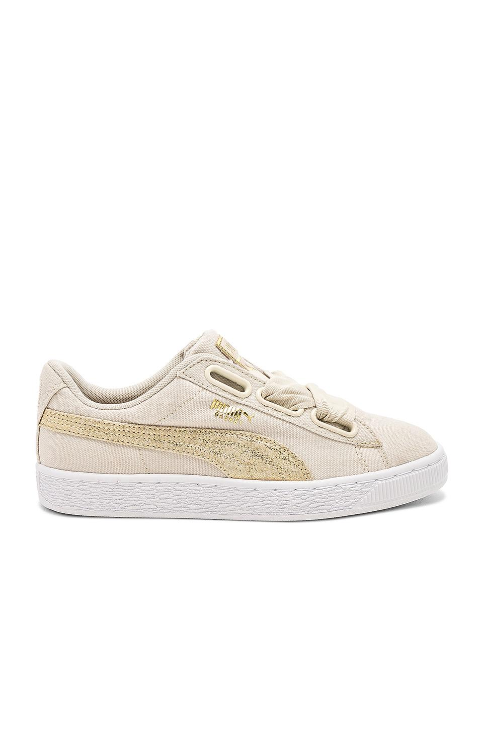 Puma Basket Heart Canvas Sneaker In Neutral