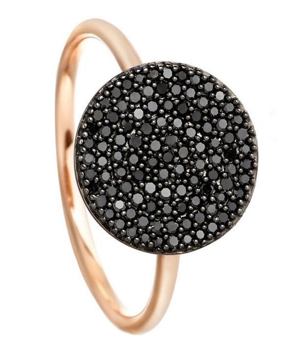 Astley Clarke Rose Gold Icon Black Diamond Ring