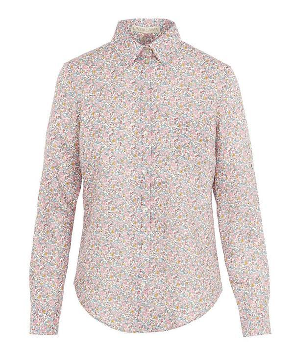 25cb5b0aa9c81d Liberty London Betsy Ann Women's Linen Bryony Shirt In White | ModeSens