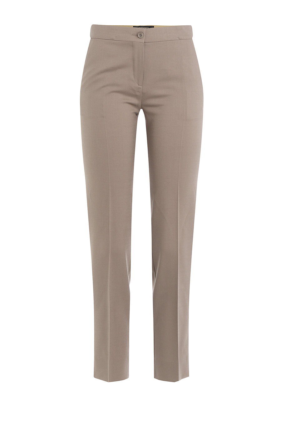 Etro Cropped Wool Pants In Grey
