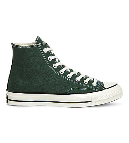 Converse 1970s Chuck Taylor All Star Canvas High-top Sneakers In Deep Emerald Egret