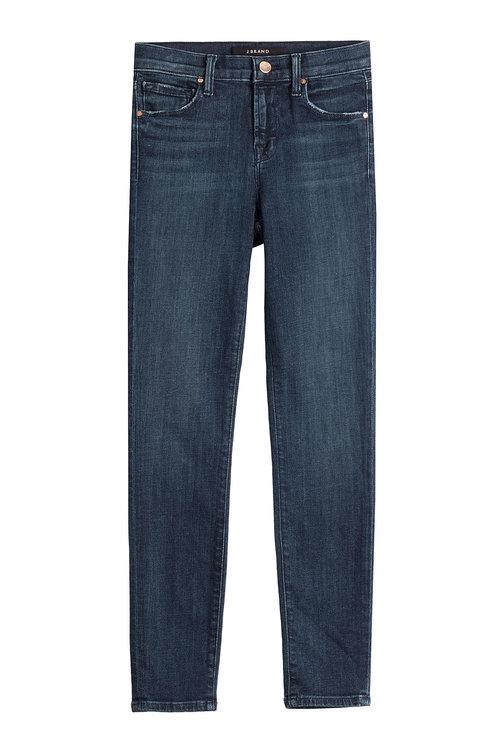J Brand Cropped Skinny Jeans In Blue