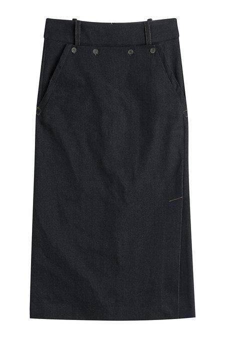 Jil Sander Denim Skirt In Blue