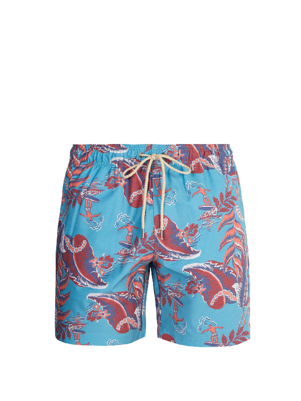 008a922b26fbc Faherty Beacon Swim Shorts In Blue Multi | ModeSens