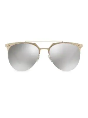 03c7b6929dd4b Versace Clubmaster Mirrored Sunglasses In Pale Gold