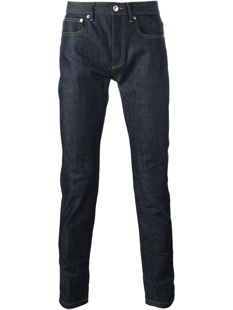 A.P.C. Petit New Standard Slim-Leg Jeans In Blue