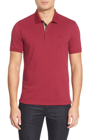 Burberry Regular Fit Polo Shirt In Raspberry Sorbet