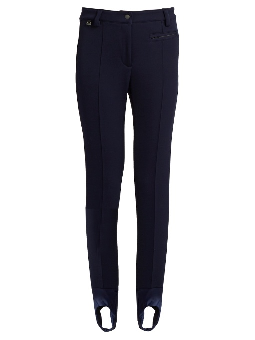 2e35fa5fb2439 Fendi Stretch-Knit Stirrup Pants In Navy | ModeSens