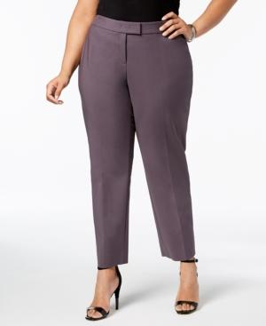 ca540b42bc8 Anne Klein Plus Size Straight-Leg Pants In Nantucket Grey